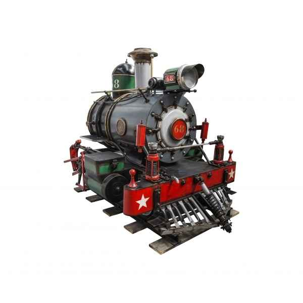 Train a vapeur decoratif retro antic -SEB15355