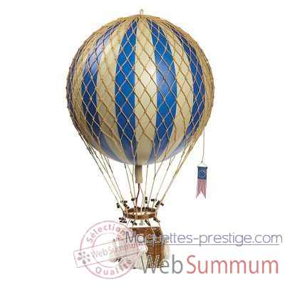 Video Replique Montgolfiere Royal Aero Bleu 32 cm -amfap163d
