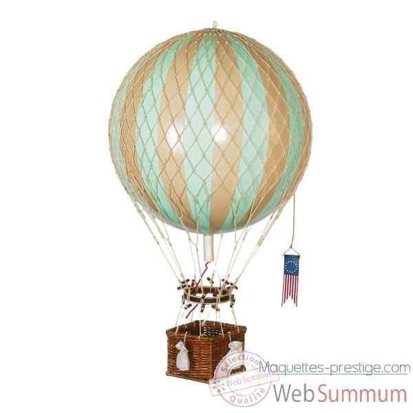 Royal aero, replique Montgolfiere Ballon 32cm menthe Decoration Marine AMF -AP163M