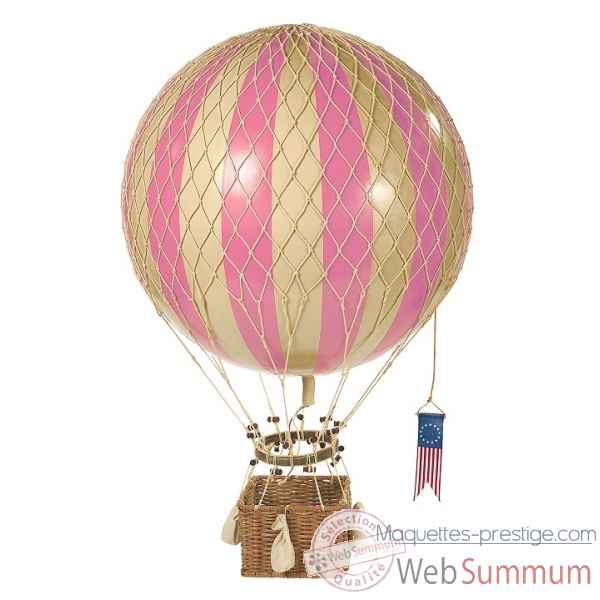 Royal aero, replique Montgolfiere Ballon 32cm  rose Decoration Marine AMF -AP163P