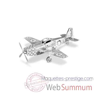Maquette 3d en metal avion mustang p-51 Metal Earth -5061003