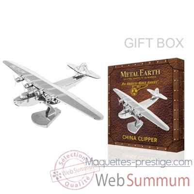 Maquette 3d en metal avion pan am china clipper Metal Earth -5060370