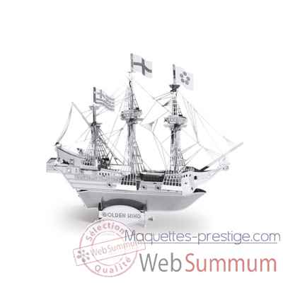 Maquette 3d en metal bateau golden hind Metal Earth -5061049