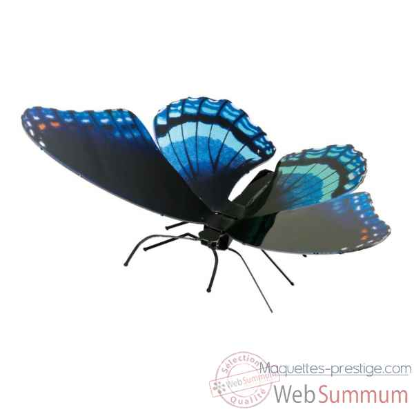 Maquette 3d en metal papillon red spotted purple Metal Earth -5061130
