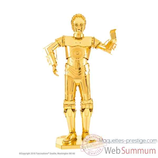 Maquette 3d en metal star wars c-3po dore Metal Earth -5061270