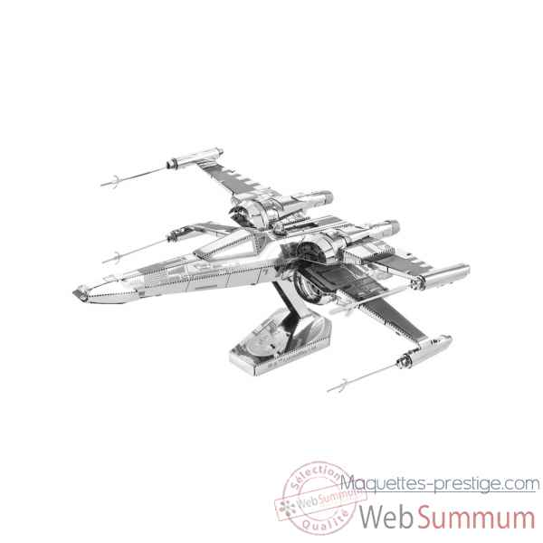 Maquette 3d en metal star wars (ep7) poe dameron\'s x-wing fighter Metal Earth -5061269