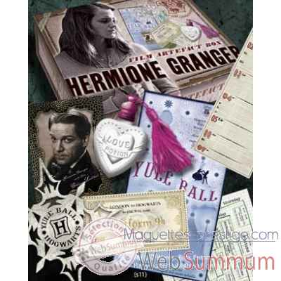 Boite d\\\'artefacts hermione granger Noble Collection -NN7431