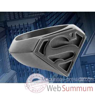 Chevaliere embleme superman noir Noble Collection -NNXT8307