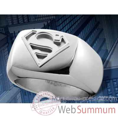 Chevaliere superman en acier Noble Collection -NNXT8314