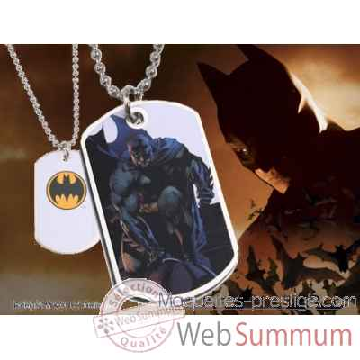Dog tag batman accroupi Noble Collection -NNXT8369