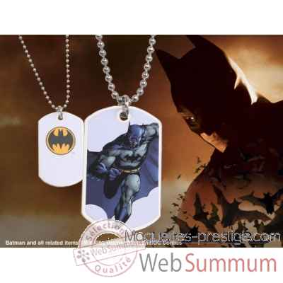 Dog tag batman en action (blanc) Noble Collection -NNXT8370