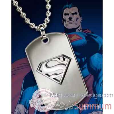 Dog tag embleme superman acier Noble Collection -NNXT8378