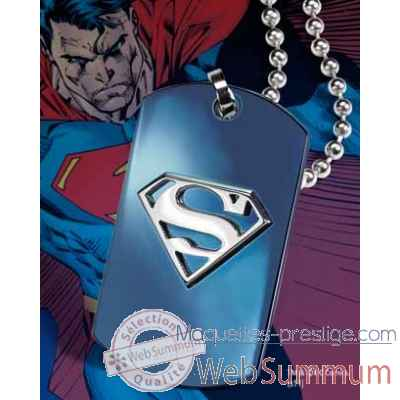 Dog tag embleme superman bleu Noble Collection -NNXT8339