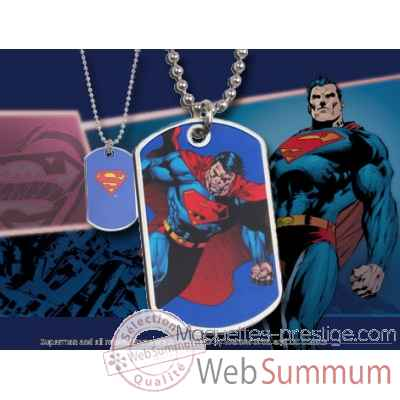 Dog tag superman en action Noble Collection -NNXT8342