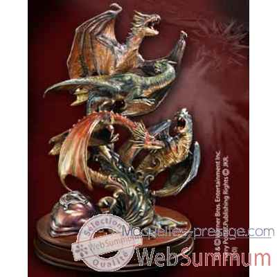 Dragons de la premiere epreuve - sculpture bronze Noble Collection -NN7764