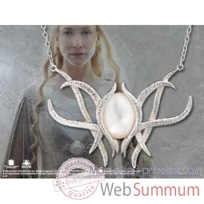 Galadriel - pendentif broche - argent massif Noble Collection -NN1283