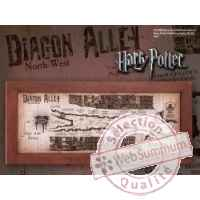 Harry potter parchemin carte diagon alley (chemin de traverse) 53 x 25 cm Noble Collection -nob07469