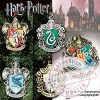 Harry potter set 5 decorations sapin hogwarts (poudlard) Noble Collection -nob07333
