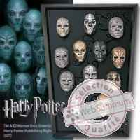 Harry potter set miniatures masques mangemort Noble Collection -nob07396