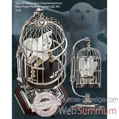 Hedwige miniature en cage Noble Collection -NN7098