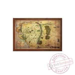 Le hobbit carte de la terre du milieu Noble Collection -NOB1312