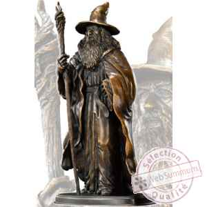 Le hobbit statuette bronze gandalf 20 cm Noble Collection -NOB12080