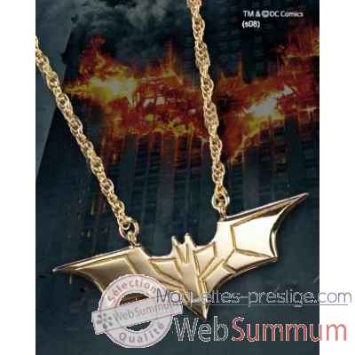 Pendentif - dark knight plaque or Noble Collection -NN4729