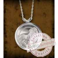 Pendentif/piece de vinci - cheval de leonard Noble Collection -NN5345
