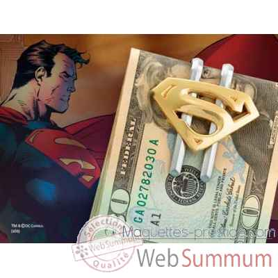 Pince a billet plaque or - superman returns™ Noble Collection -NN4389