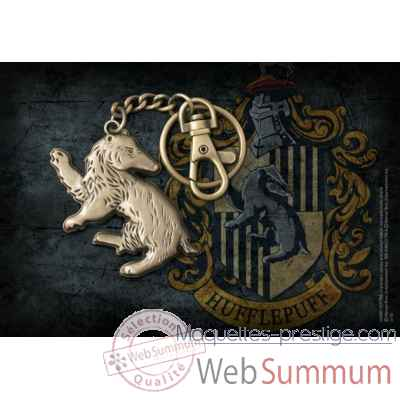 Porte-cles blaireau - maison poufsouffle - harry potter Noble Collection -NN7720