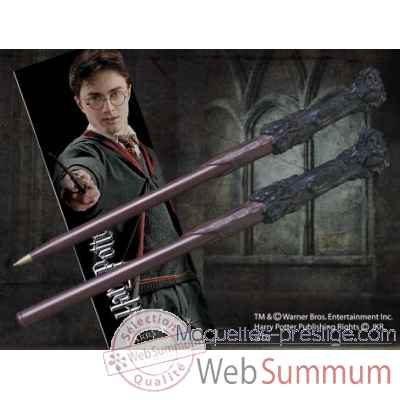 Stylo baguette & marque-page harry potter Noble Collection -NN8636