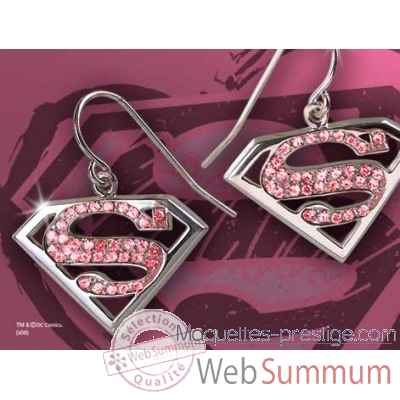 Supergirl™ - boucles d\'oreilles cristal rose Noble Collection -NN4024